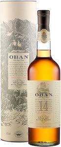 Oban 14 años whisky escocés